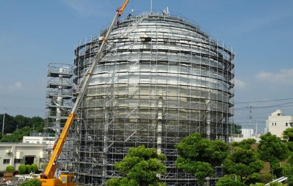 球形ガスホルダー開放検査工事