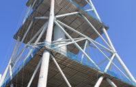 火力発電所主要煙突塗装二期工事